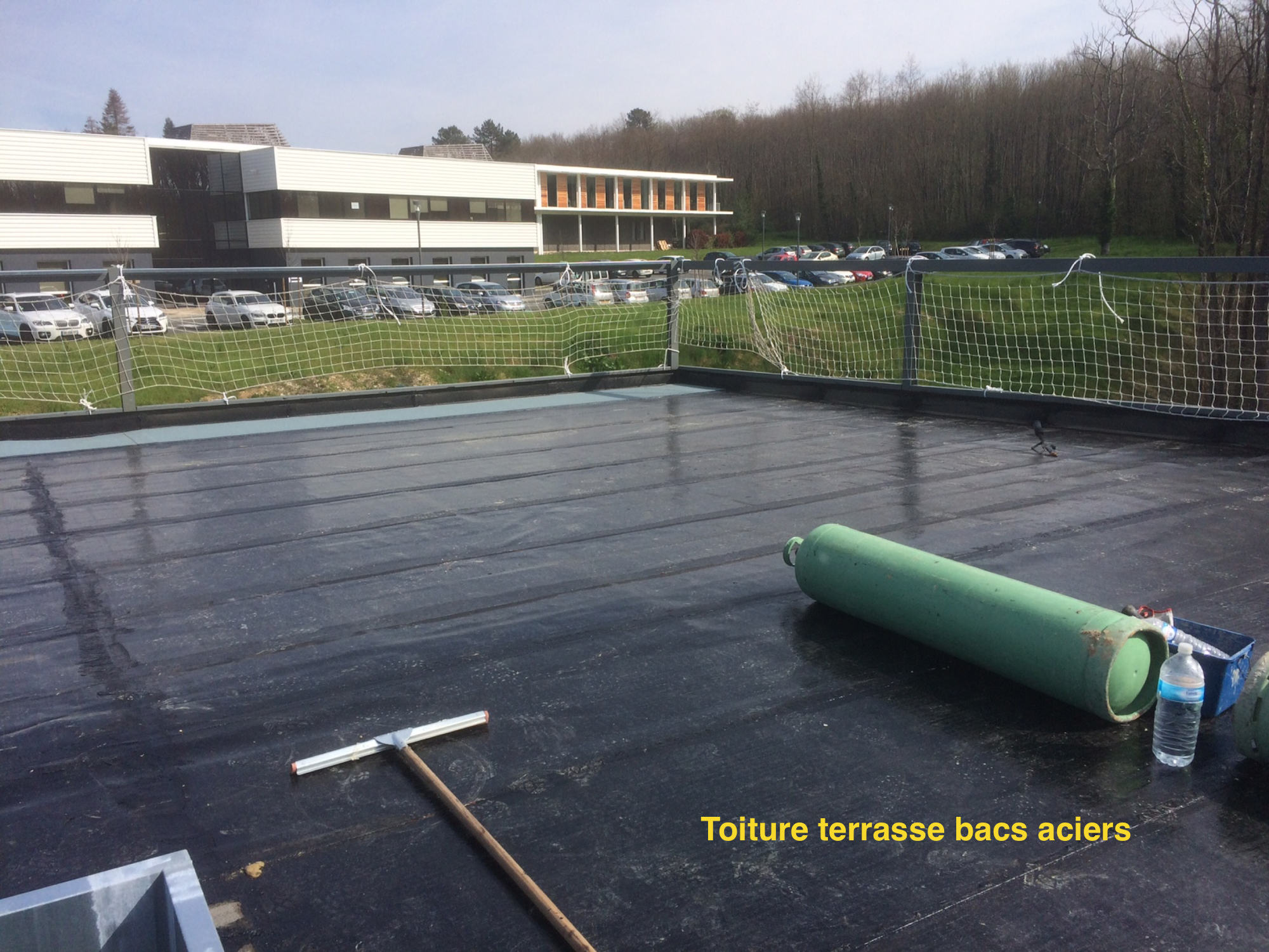 Toiture terrasse inaccessible - FROIDEFOND ETANCHEITE